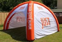 China outdoor cheap 4legs 6m/20ft air structure small inflatable dome tent with vecro walls for hire sale