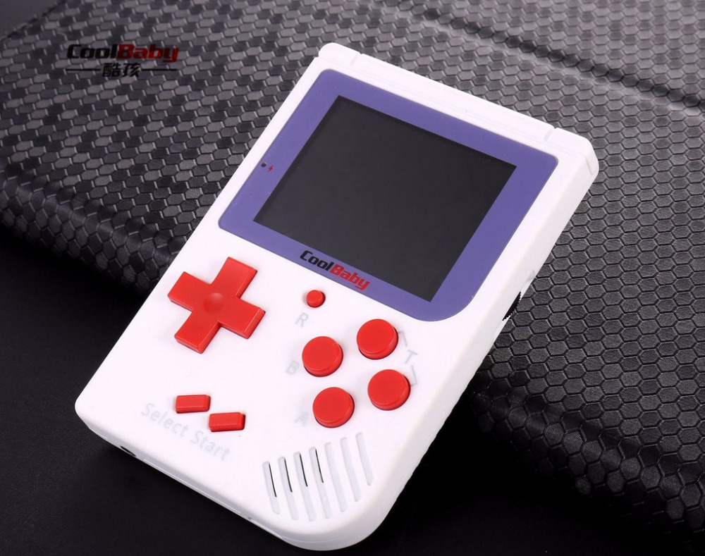 RS-6 Retro Mini Handheld Game Console 8 bit 2.0 inch Color Children Game Player Built-in 129Games Without retail packaging