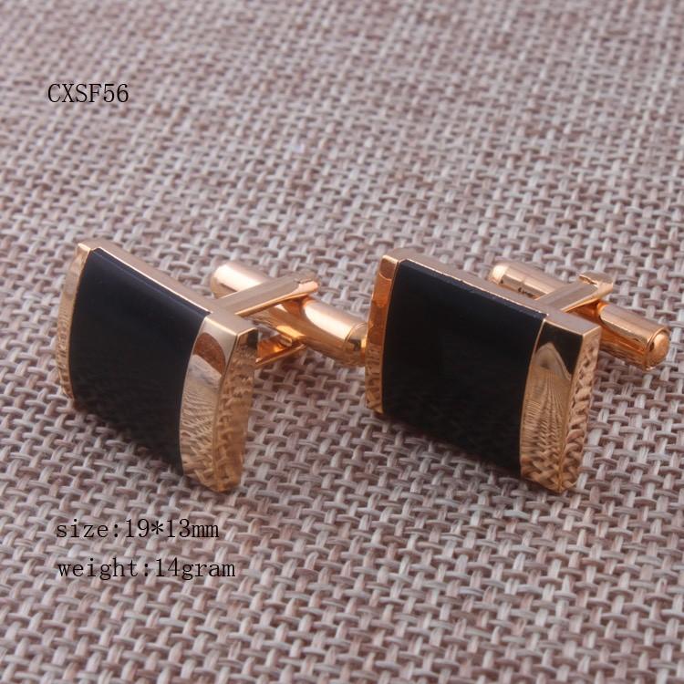мода 24 к золотой цвет мужчины мед запонки с черной mal