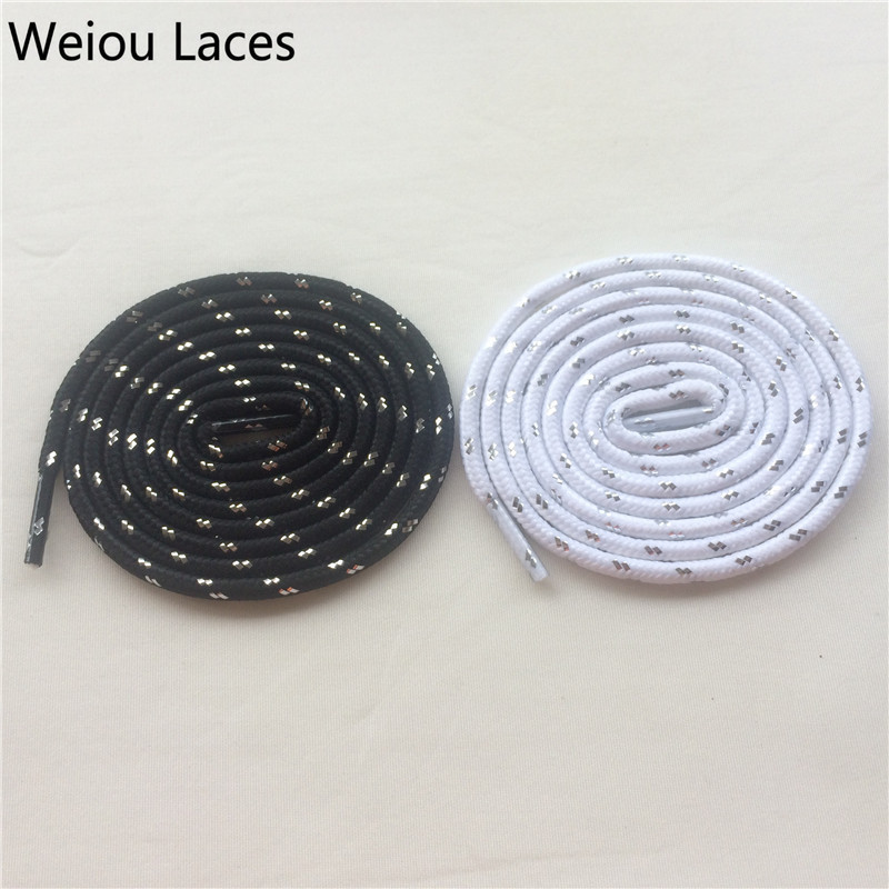(30 Pairs/Lot) Weiou Fashion Sport Shoe Lace Charms Hiking Shoelaces Black White Silver Color Shoestrings Kids Ropelace Custom brand name oulm men watches leather strap quartz watch fashion clock militar sports mens watches