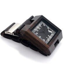 BOBO BIRD L23 Black Sandal Wood Men Watch Analog Quartz Movement Lightweight Vintage Wooden Watch With Gift Box