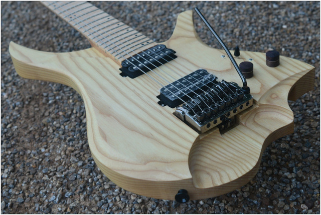 7 Strings Headless Electric Guitar  style wood color Flame maple Neck 1