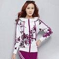 Женская зимний костюм весной два комплекта Корейских женщин костюм отдыха женская мода свитер печати survetement Длинным рукавом свитшот спортивный костюм женский свитшот свитшоты спортивные костюмы женские кофта