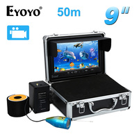 EYOYO 50M Fish Finder 9 LCD 8GB Underwater Video Camera W DVR Function 12pcs White LED