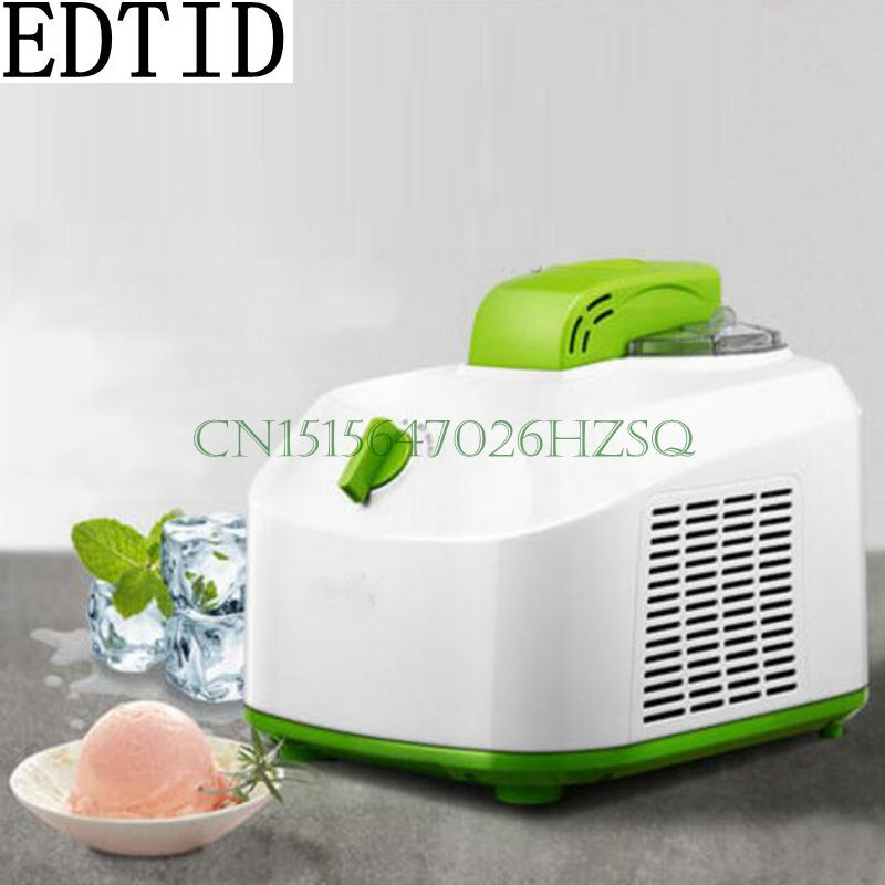 EDTID 150W~220V Household Electric 1.0L Ice Cream Maker Mini Full-Automatic DIY Ice Cream For Child With stir and cool function edtid 12kgs 24h portable automatic ice maker household bullet round ice make machine for family bar coffee shop eu us uk plug