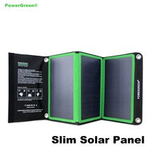 Travel Charger PowerGreen 21 Watts Light-weight Dual Ports Foldable Solar Panel Solar Power Bag for Phone Battery Backup
