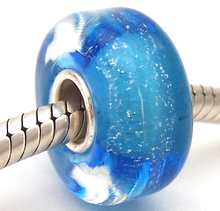 YJG79 Cylinder 100% S925 Sterling Silver Beads Murano Glass beads Fit European Charms Bracelet charms diy jewelry Lamp-work
