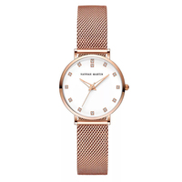 Japan Quartz Movement Rose Gold Watch 32mm Waterproof hannah Martin Women Bracelet Watches Ladies Stainless Steel Mesh clock