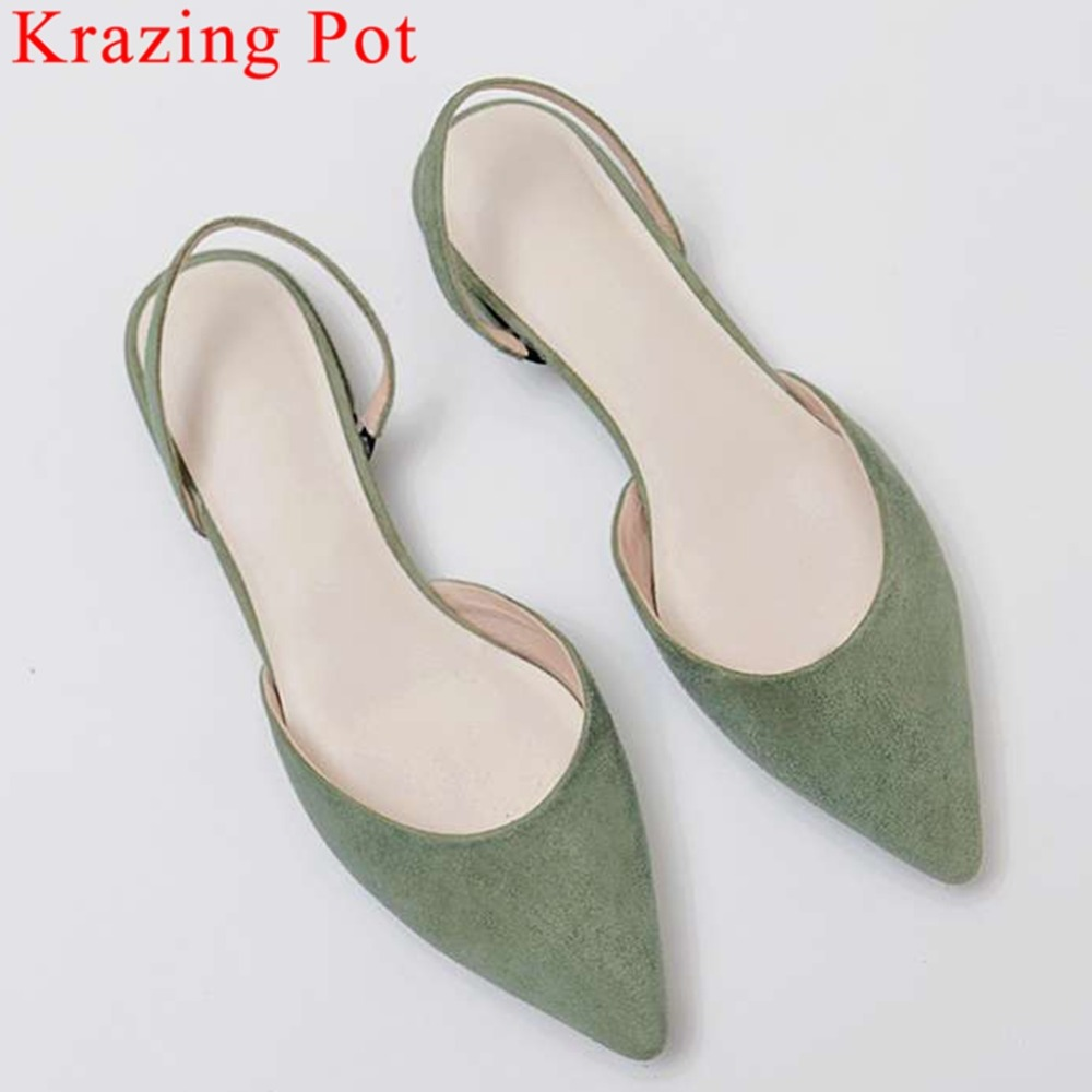 Krazing Pot full grain leather low heels slip on pointed ote Hollywood movie stars art girls preppy style dating sandals L20Krazing Pot full grain leather low heels slip on pointed ote Hollywood movie stars art girls preppy style dating sandals L20