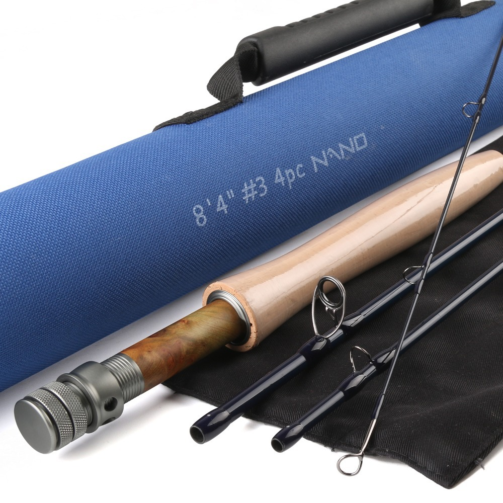 Maximumcatch nano core carbon fly rod 8 39 4 ft 3wt 4pcs with for Shipping tubes for fishing rods