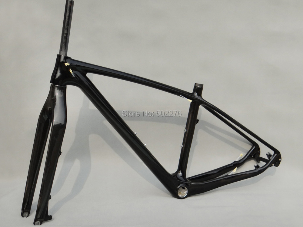 Full Carbon UD Glossy 27.5er Mountain Bike MTB 27.5 Wheel BSA Frame and Fork 17 Components & Parts