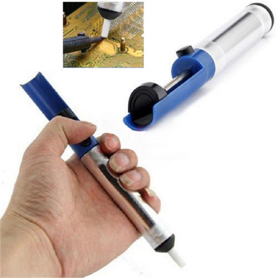 Suction Tin Solder Sucker Desoldering Pump Removal Vacuum Soldering Iron Desolder Welding Tools Desoldering Gun