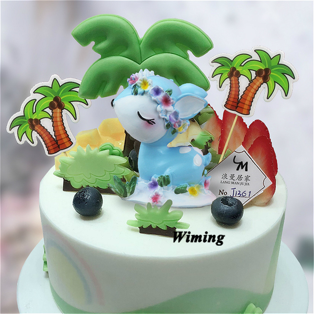 cool toys deer cake topper birthday decoration girl party supplies baby shower gifts decorating cupcake toppers