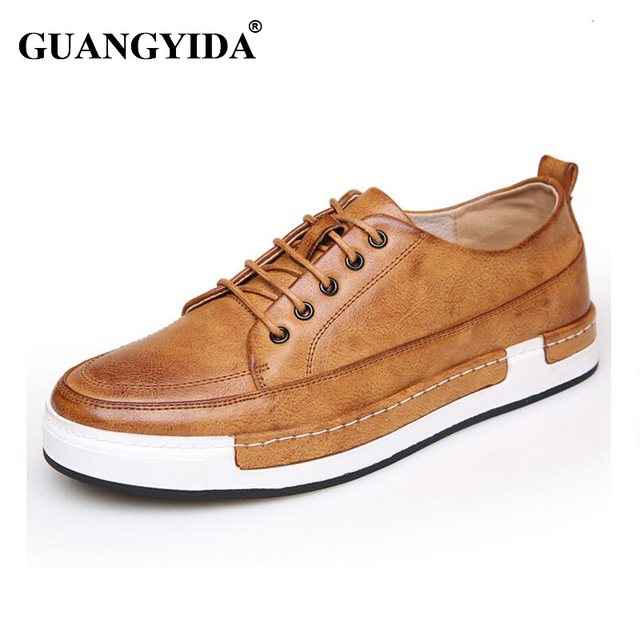 2017 Men Flats British Retro Stytle Leather Shoes Men Oxfords , High Quality Handmade Bullock Shoes Men Flat Shoes N17