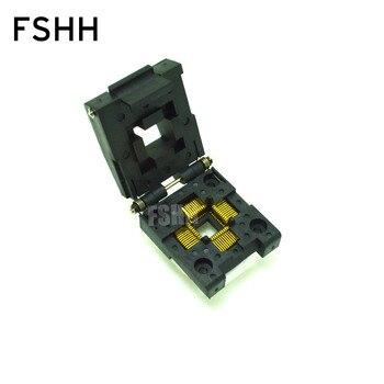 цена на IC51-0444-467 Socket QFP44 TQFP44 IC Test Burn-in Socket Programming Adapter 0.8mm Pitch