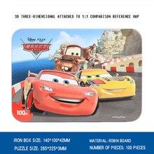Disney мультфильм анимация pizzles 2018 детей подарки 100 шт. автомобили олова паззлы одежда для малышей Пазлы игрушки