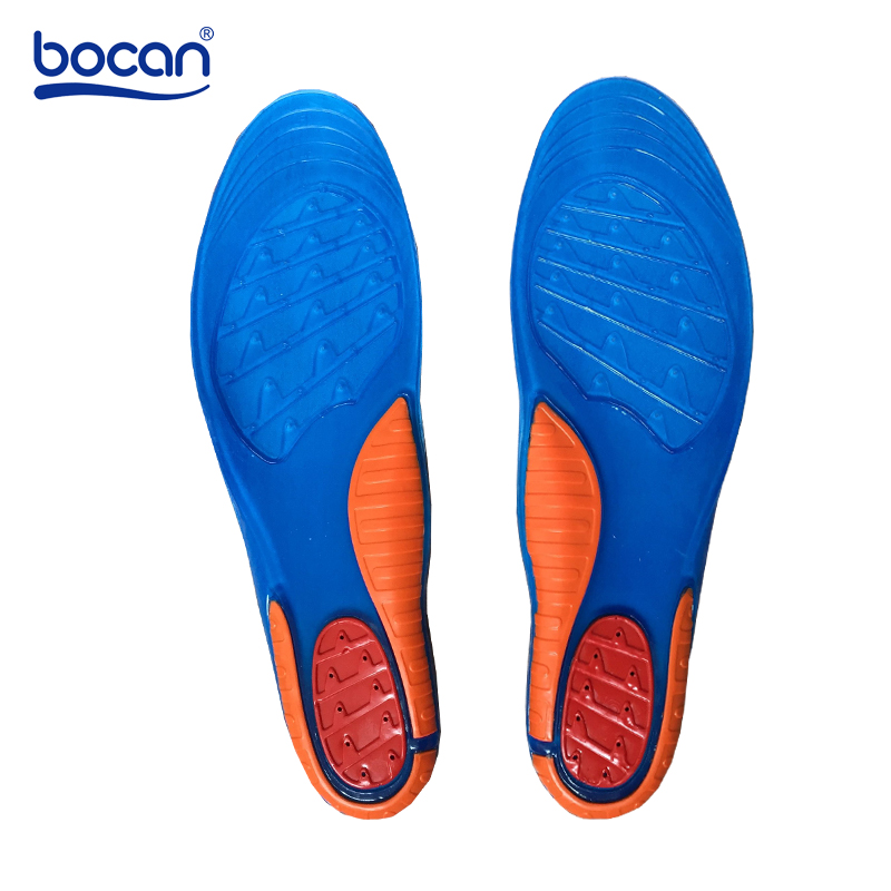 Bocan high quality gel insoles comfortable shoe insoles shock absorption insole for men and women e0980  high quality comfortable and