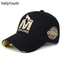 VellyYouth Casquette de baseball Nouvelle Lettre M Loup Imprimer Coton  Chapeau Sport casquette de baseball Hommes e2d0f13ce46c