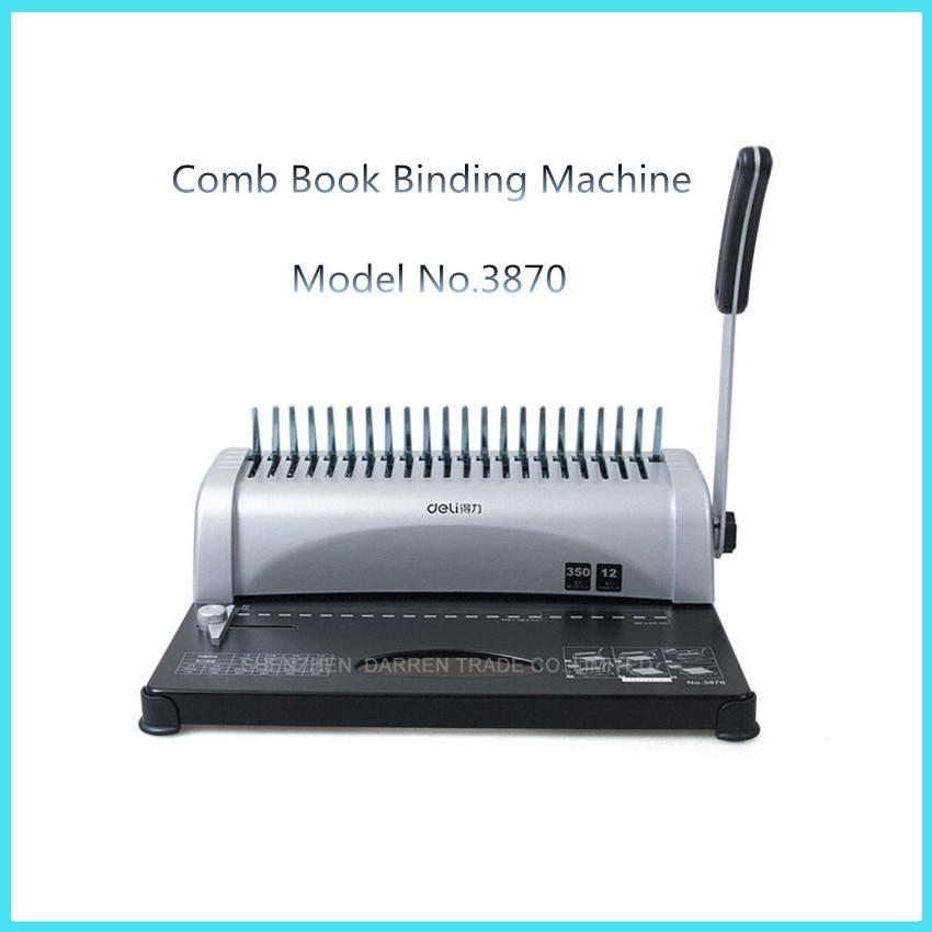 все цены на  3870 Practical 21 holes  A4  Manual Comb Book Binding Machine can punch 12 sheets at a time  aprons binding machine  онлайн