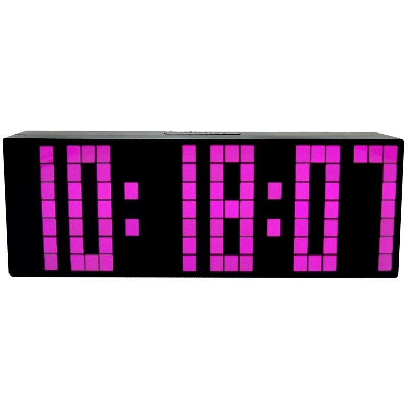 Ch Kosda Modern Digital Large Led Alarm Clocks Wall Clock Countdown Timer Desk Table Bedroom