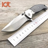 LDT DDR Folding Knife 9Cr18Mov Blade Carbon Fiber Steel Handle Camping Pocket Hunting Knives Survival Outdoor