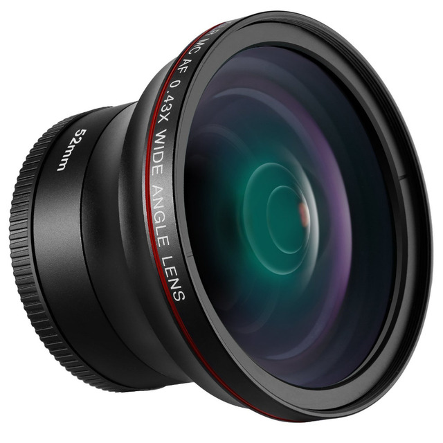 Neewer52MM 0 43X HD Wide Angle Lens with Macro Close-Up Portion Lens No  Distortion Digital High Definition for Nikon DSLR Camera
