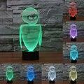 7 Cores mudança Robô 2 nightlight lâmpada 3D colorida de toque LEVOU lâmpada do quarto das crianças lâmpada IY803541 emoção LEVOU Dom Luz