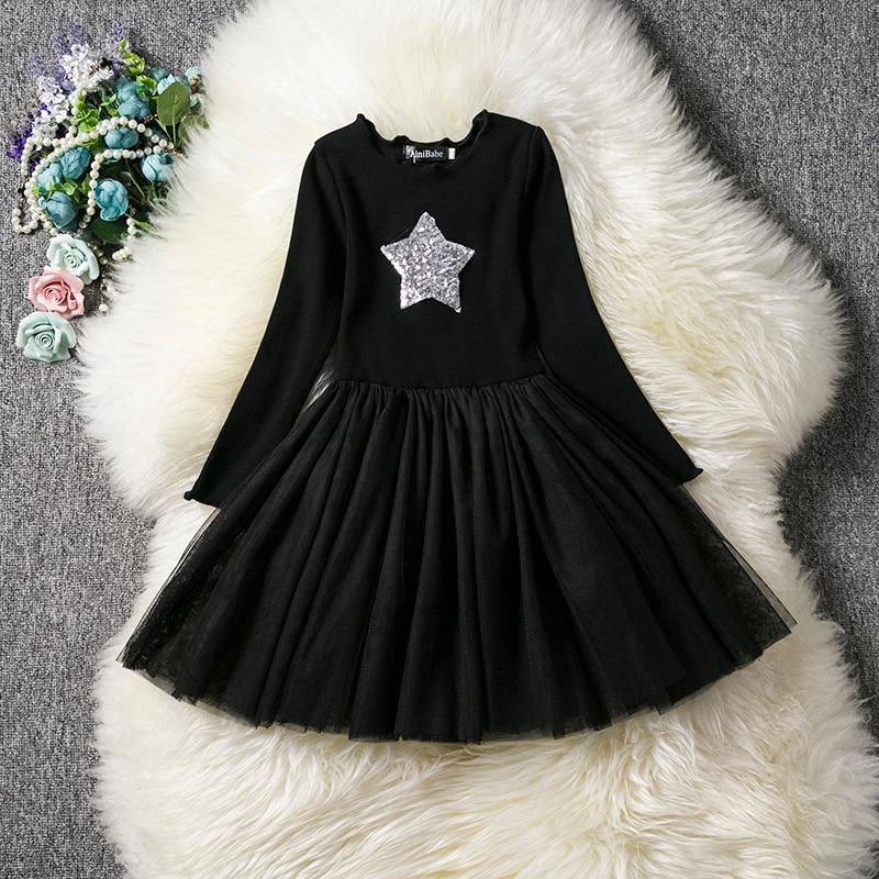 HTB1KlZSaG67gK0jSZFHq6y9jVXaX Kids Long Sleeve Lace Drsses for Girls Party Dress Star Printed Birthday Tutu Dresses Children Casual Wear 3 6 8 Years Vestidos