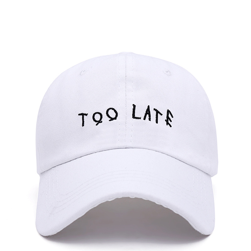 2019 New Letter Embroidery Baseball Cap Korean Hip Hop Version Of The Personality Caps Adjustable Dad Hat  Outdoor Sun Hats
