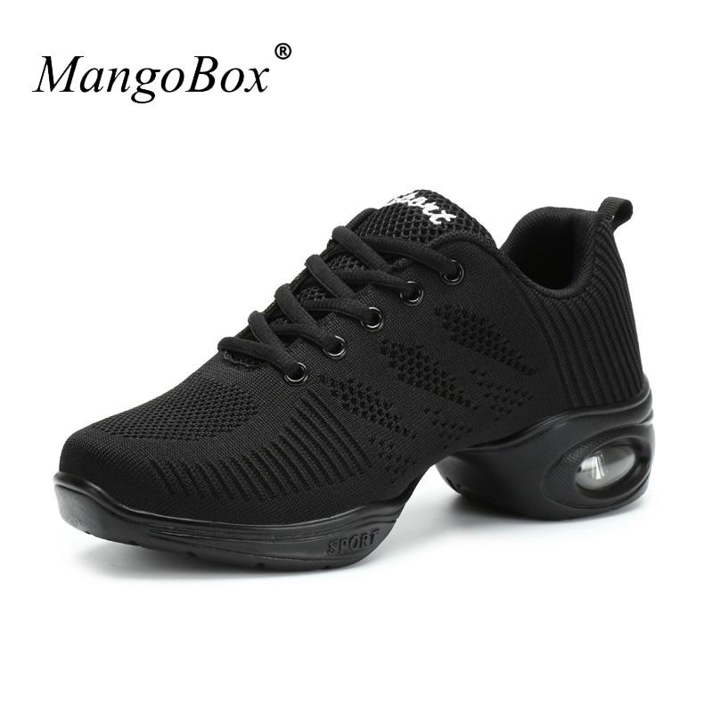 Dance Sneakers For Women White Black Women Dance Shoes Comfortable Ballroom Dance Shoes Women Cheap Dancing Jazz Sneakers