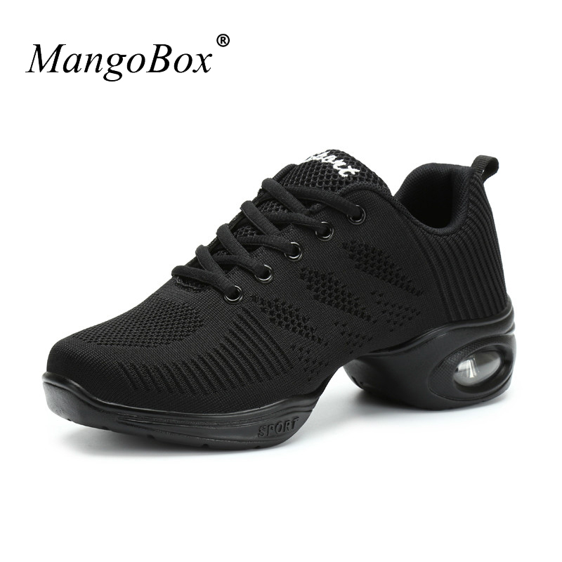 Dance Sneakers For Women White Black Women Dance Shoes Comfortable Ballroom Dance Shoes Women Cheap Dancing Jazz Sneakers