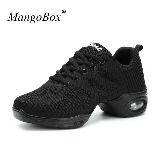 b8f908b285272 Tênis de dança Para As Mulheres Branco Preto Mulheres Sapatos Confortáveis  Sapatos de Dança de Salão
