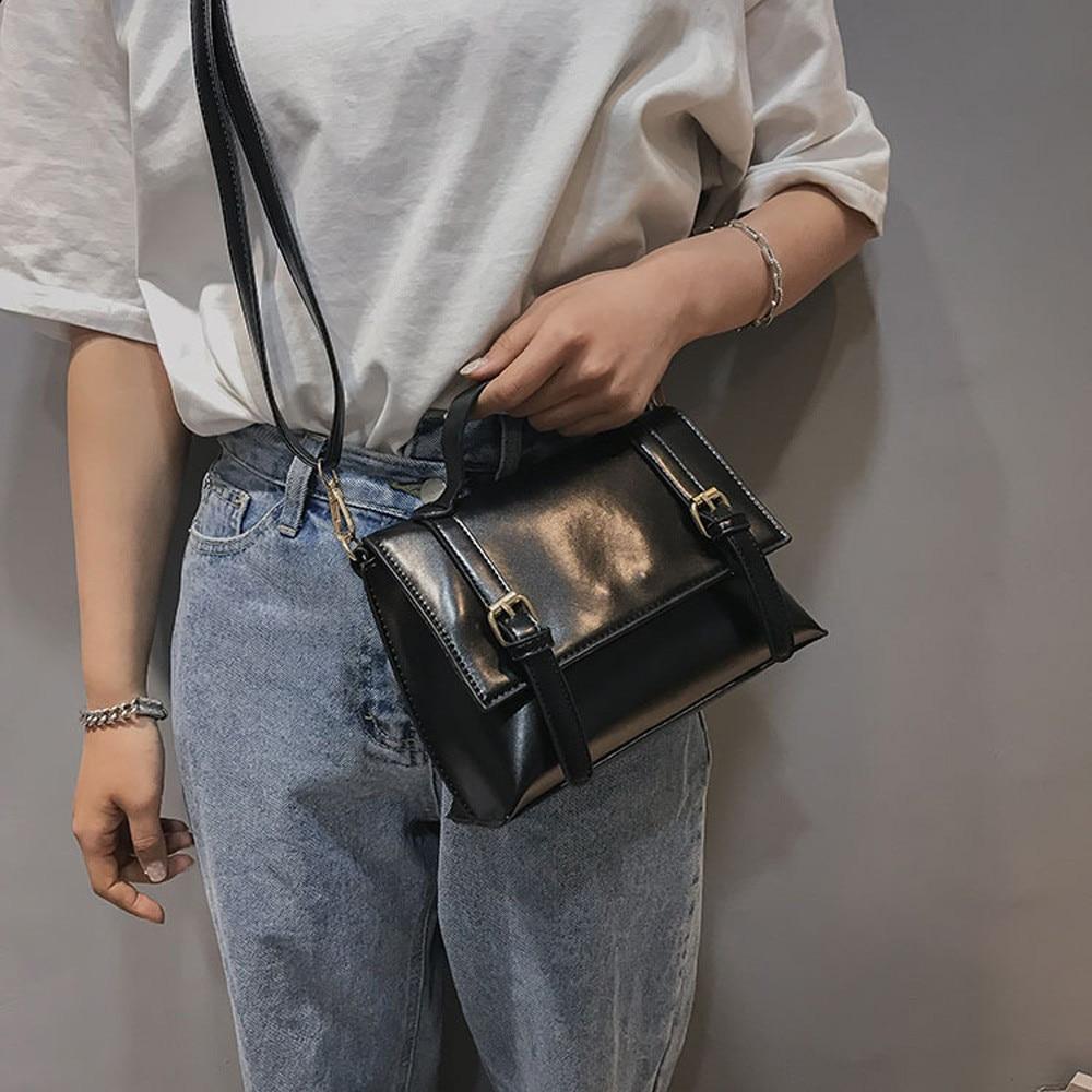 Women Vintage Leather Shoulder Bag Messenger Satchel Tote Crossbody Bag Handbag MAY30