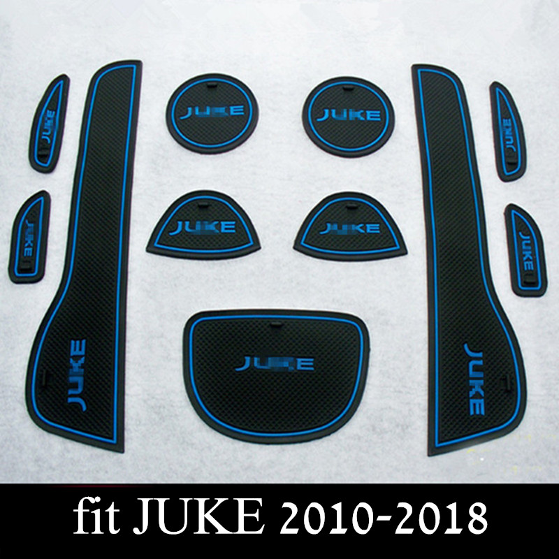 Car Door Groove Mats For Nissan Juke Anti Slip Mat Gate Slot Pad Interior Decoration Accessories For JUKE 2010-2018