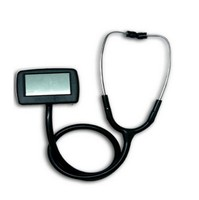Best Price Multi function digital visual electronic stethoscope + spo2 pulse oxygen Saturation with CE Approved CMS M