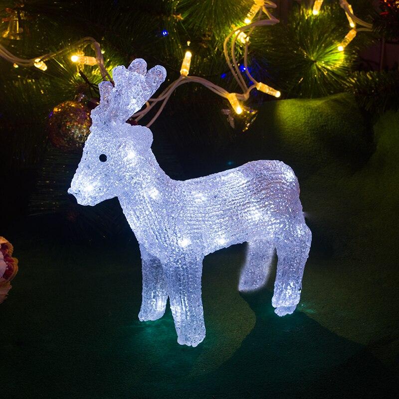 3D xmas reindeer ornament light 28cm Tall christmas tree light decoration outdoor LED holiday lighting christmas gift