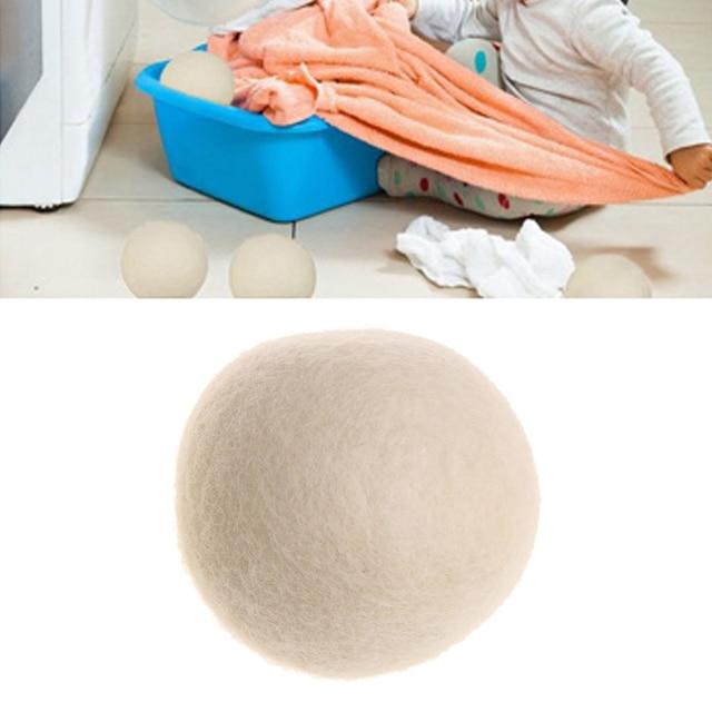 1 Pc Amaciante Reutilizável Lavandaria Secador de Bola de Lã de Ovelha Natural Orgânico Eco