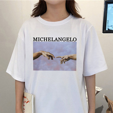 Michelangelo Cappella Sistina T-shirt Harajuku Female t shirt Ulzzang Fun Kawaii Women Tshirt New Summer Casual Tops S-2XL
