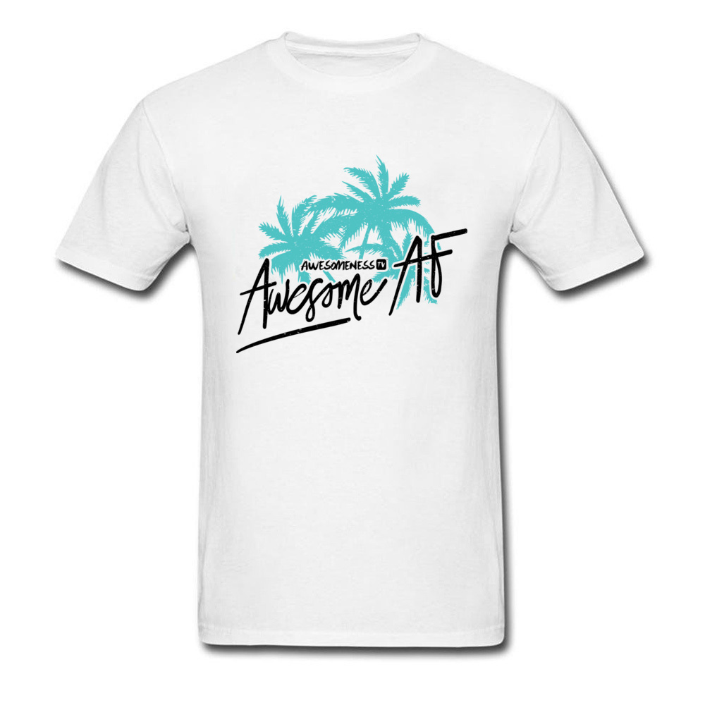 Awesome <font><b>AF</b></font> Palm Trees <font><b>Tshirt</b></font> Men Sunshine Beach Tour T Shirts 100% Cotton Round Collar Never Fade Print Casual Tee Shirts image