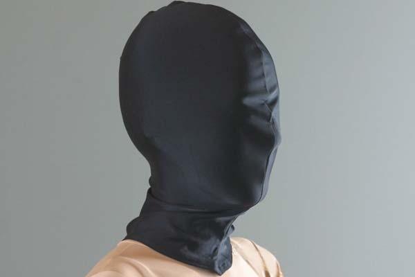 Classic Halloween Costumes Black Lycra Spandex Head Hood Tights Unisex Fetish Zentai Mask/Hood
