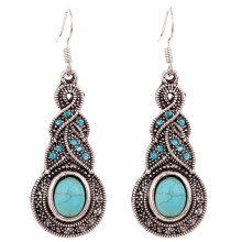 EK211 New Brincos Vintage Bohemian Blue Crystal Dangle Ethnic Big Drop Earrings for Women Jewelry boucle d'oreille Pendientes