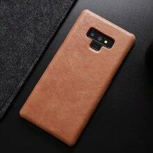 CKHB для galaxy note9 Винтаж Стиль из натуральной кожи жесткий чехол для galaxy S8 S9 плюс Примечание роскошные кожаные телефонов случае