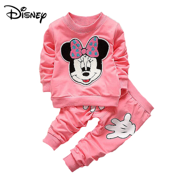 Disney Minnie Mickey Frozen Baby Girl Sets Clothes Brand Newborn Infant Clothing Cartoon Pants Outfit Kids Bebes Jogging Suit