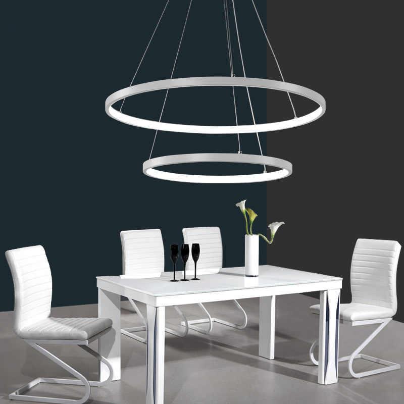 Светодиодный современный круглый подвесной светильник для Гостиная светильники лампы фонари подвесные потолочные светильники Lamparas блеск
