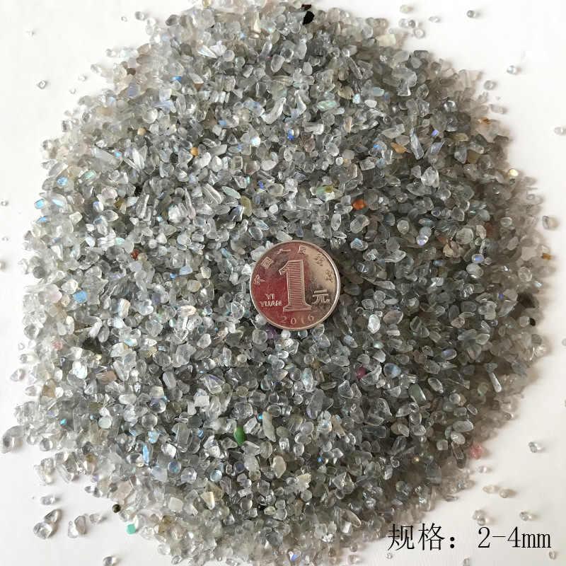 50g 3 גודל טבעי גביש אפור ברדורייט מונסטון חצץ רוק קוורץ גלם טבעי אבנים ומינרלים