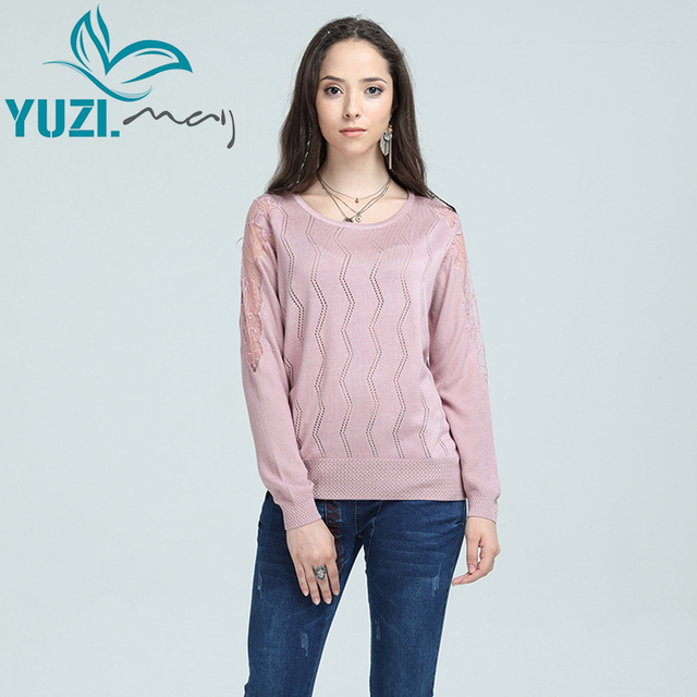 Sweater Women 2017 Yuzi.may Casual New Cotton Pullover O Neck Long ...