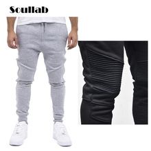 HOT 2019 Outdoor mens sports GYM Runway Running Muscle Men pants fitness Stitching design stripe thin leg man sweatpants