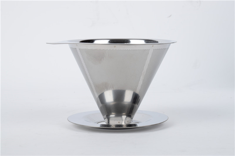 Modern Fashionable Stainless Steel Metal Coffee Dripper Pour Over Coffee Maker Reusable Coffee Filter Single Cup Coffee maker