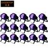 10pcs Lot Fast Delivery Flat Slim 7 10W Quar Color LED RGBW Par Can DMX PAR
