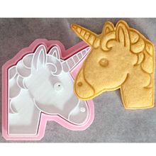цена на 1 PCS Unicorn Emoji Cookie Cutter Biscuit Stamp DIY Fondant Biscuit Chocolate Cake Mold Baking Tool